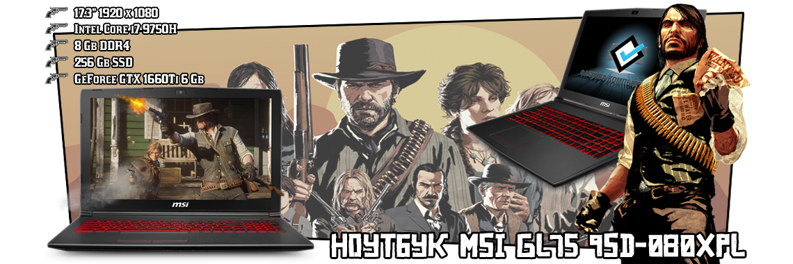 Ноутбук MSI GL75 9SD-080XPL