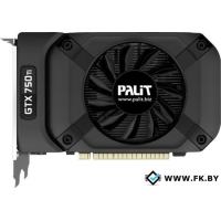 Видеокарта Palit GeForce GTX 750 Ti StormX OC 2GB GDDR5 (NE5X75TS1341-1073F)