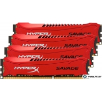 Оперативная память Kingston HyperX Savage 4x8GB KIT DDR3 PC3-12800 (HX316C9SRK4/32)