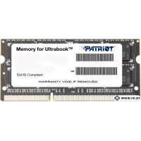 Оперативная память Patriot Memory  8GB DDR3 SO-DIMM PC3-10600 (PSD38G1333L2S)