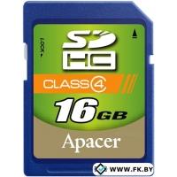 Карта памяти Apacer SDHC (Class 4) 16GB (AP16GSDHC4-R)