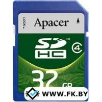 Карта памяти Apacer SDHC (Class 4) 32GB (AP32GSDHC4-R)