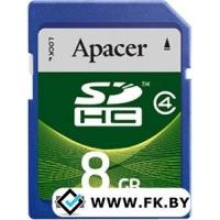 Карта памяти Apacer SDHC (Class 4) 8GB (AP8GSDHC4-R)
