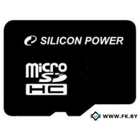 Карта памяти Silicon-Power microSDHC (Class 10) 8 Гб (SP008GBSTH010V10)