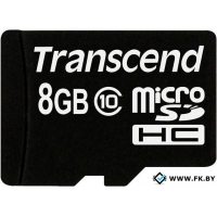 Карта памяти Transcend microSDHC (Class 10) 8GB (TS8GUSDC10)