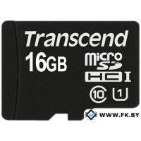 Карта памяти Transcend microSDHC Class 10 UHS-I 16GB (TS16GUSDCU1)