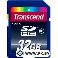 Карта памяти Transcend SDHC Class 10 32GB (TS32GSDHC10)