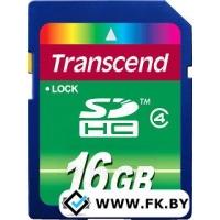 Карта памяти Transcend SDHC Class 4 16 Гб (TS16GSDHC4)