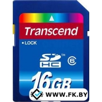 Карта памяти Transcend SDHC Class 6 16 Гб (TS16GSDHC6)