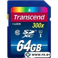 Карта памяти Transcend SDXC (Class 10) UHS-I Premium 64Gb (TS64GSDU1)