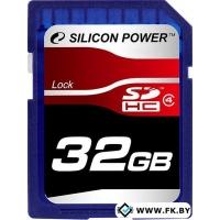Карта памяти Silicon-Power SDHC Class 4 32 Гб (SP032GBSDH004V10)