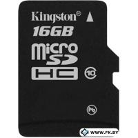 Карта памяти Kingston microSDHC (Class 10) 16GB (SDC10/16GBSP)