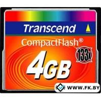 Карта памяти Transcend 133x CompactFlash 4 Гб (TS4GCF133)