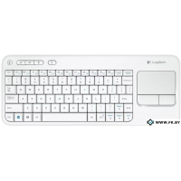 Клавиатура Logitech Wireless Touch Keyboard K400 White (920-005931)