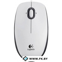 Мышь Logitech B100 Optical USB Mouse (910-003360) White