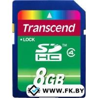 Карта памяти Transcend SDHC Class 4 8 Гб (TS8GSDHC4)