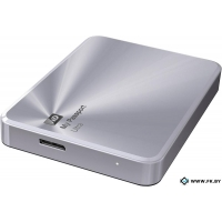Внешний жесткий диск WD My Passport Ultra Metal Silver 1TB (WDBTYH0010BSL)
