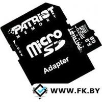 Карта памяти Patriot microSDHC (Class 10) 8 Гб + адаптер (PSF8GMCSDHC10)