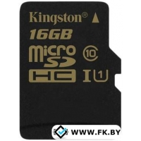 Карта памяти Kingston microSDHC UHS-I U1 (Class 10) 16GB (SDCA10/16GBSP)
