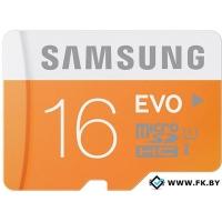 Карта памяти Samsung MicroSDHC 16GB Evo Memory (MB-MP16DA/AM)