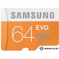 Карта памяти Samsung MicroSDXC 64GB Evo Memory (MB-MP64DA/AM)