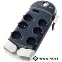 Сетевой фильтр APC SurgeArrest 6 розеток, черный, 2.44 м (PH6T3-RS)