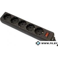 Сетевой фильтр Defender ES 5 розеток, черный, 1.8 м