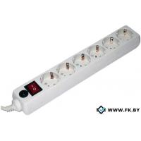 Сетевой фильтр Гарнизон 6 розеток, белый, 1.8 м (EHW-6-1.8M)