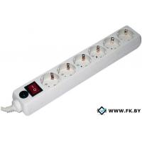 Сетевой фильтр Гарнизон 6 розеток, белый, 5 м (EHW-15-5.0M)