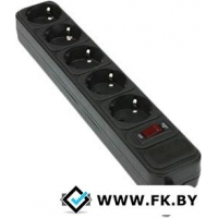 Сетевой фильтр Gembird 5 розеток, черный, 1.8 м (SPG3-B-6PPB)