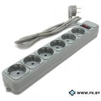 Сетевой фильтр Gembird 6 розеток, серый, 5 м (SPG6-B-15PP)