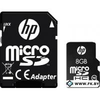 Карта памяти HP microSDHC (Class 10) 8GB + SD адаптер (SDU8GBHC10HP-EF)