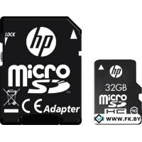 Карта памяти HP microSDHC (Class 10) 32GB + SD адаптер (SDU32GBHC10HP-EF)