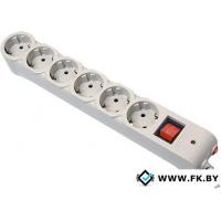 Сетевой фильтр Defender 6 розеток, серый, 5 м (DFS 605)