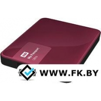 Внешний жесткий диск WD My Passport Ultra 1TB Wild Berry (WDBDDE0010BBY)