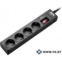 Сетевой фильтр APC Essential SurgeArrest 4 розетки, чёрный (P43B-RS)
