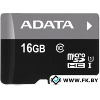 Карта памяти A-Data Premier microSDHC UHS-I (Class 10) 16GB (AUSDH16GUICL10-R)