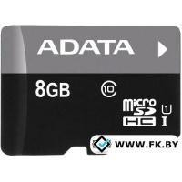Карта памяти A-Data Premier microSDHC UHS-I U1 (10 Class) 8GB (AUSDH8GUICL10-R)