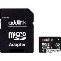 Карта памяти Addlink microSDHC 32GB (Class 10) + адаптер [AD32GBMSH310A]
