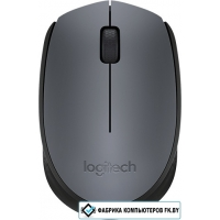 Мышь Logitech M170 Wireless Mouse Gray/Black [910-004642]