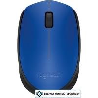 Мышь Logitech M171 Wireless Mouse синий/черный [910-004640]