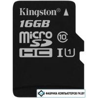 Карта памяти Kingston microSDHC UHS-I (Class 10) 16GB [SDC10G2/16GBSP]