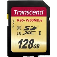Карта памяти Transcend SDXC UHS-I U3 Class 10 128GB (TS128GSDU3)