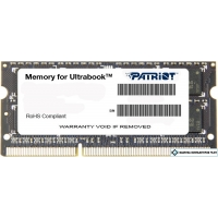Оперативная память Patriot Memory for Ultrabook 4GB DDR3 SO-DIMM PC3-12800 (PSD34G1600L2S)