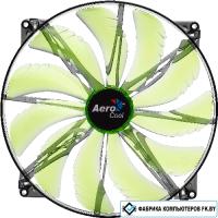 Кулер для корпуса AeroCool Silent Master 200mm Green Led Fan