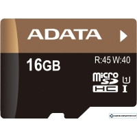 Карта памяти A-Data Premier Pro microSDHC UHS-I U1 16GB (AUSDH16GUI1-RA1)
