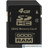 Карта памяти GOODRAM SDHC (Class 4) 4GB (SDC4GHC4GRR9)