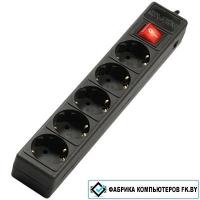 Сетевой фильтр SVEN Optima 6 розеток, черный, 3 м