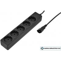 Сетевой фильтр SVEN Special Base 5 розеток, черный, 0.5 м