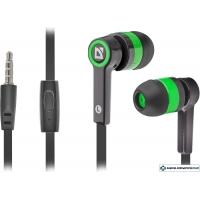 Наушники с микрофоном Defender Pulse-420 черный/зеленый